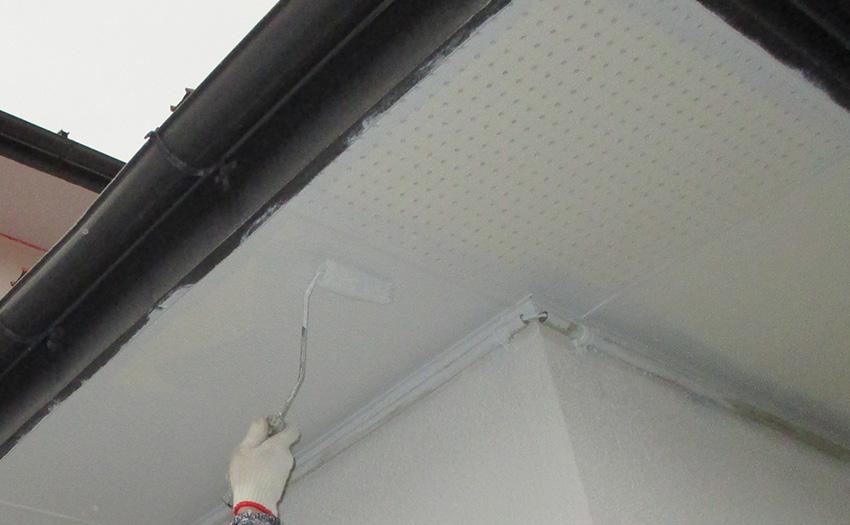 9軒天井塗装