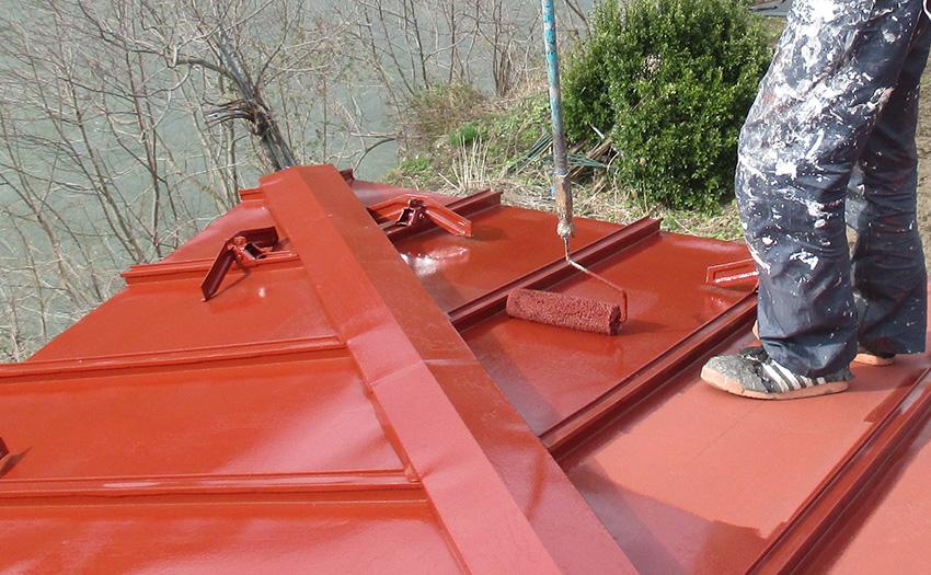 2屋根中塗り